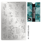 """MOYRA STAMPING PLATE """"STAINED GLASS"""" HIGH QUALITY STAMPING PLATE"""