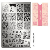 """MOYRA Stamping plate """"PRIMAVERA"""" High quality Nail Stamping plate"""