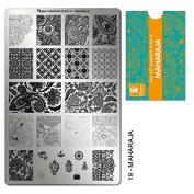 "MOYRA Stamping plate ""MAHARAJA"" High quality Nail Stamping plate"