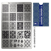 """MOYRA Stamping plate """" DAMASK DRAPERY 5.1cm High quality Nail Stamping plate"""