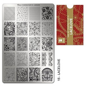 """MOYRA Stamping plate """" LACE LOVE"""" High quality Nail Stamping plate"""