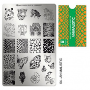 """MOYRA Stamping plate """" ANIMALISTIC"""" High quality Nail Stamping plate"""
