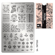 """MOYRA Stamping plate """" TATTOO"""" High quality Nail Stamping plate"""