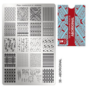 """MOYRA Stamping plate """" ABORIGINAL"""" High quality Nail Stamping plate"""
