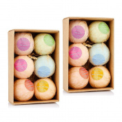 Ms.Dear 12PCS Bath Bombs with Moisture Resistant Bag Wrapped,Bath Bubbles, Basket, Bath Beads, Bath Salt,Bath Products