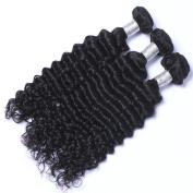 MeiRun 7A Brazilian Deep Wave Virgin Hair Bundles Hair Extension 3 Bundles 8-70cm Natural Black
