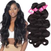 Stephanie Hair Brazilian Body Wave virgin Hair Bundles human hair Extensions weave bundles Natural Black Colour 100% Human Hair Weaving 8A 4pcs (100+/-5g)/pc