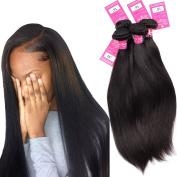 Stephanie Hair Brazilian Straight Virgin Hair Products 100% Unprocessed Virgin Human Hair Weave Bundles Natural Black Colour 8A 4pcs (100+/-5g)/pc