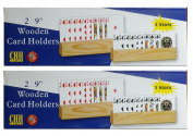 3 Slot Wooden Card Holders (2-Pack of 2) by CHH