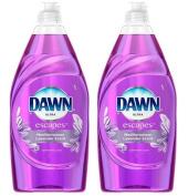 Dawn Ultra Escapes Dishwashing Liquid 240ml, Mediterranean Lavender, Set of 2