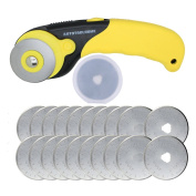 AUTOTOOLHOME 45mm Rotary Cutter 20 Pack Refill Blades Sewing Tool ZH0371