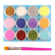 YOOKOON Stationery Fine Arts & Crafts Glitter Sparkling Paillette For Crafts, Scrapbooking, Nail Beauty,Eyeshadow Powder Makeup Flash Powder Costume Party Disco Ball Props