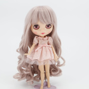 Wigs Only! Taro Miilk Wigs for Blythe Dolls Heat Resistant Synthetic Doll Hair Accessories
