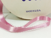 Feather Edge Dbl Face Satin Ribbon 0.5cm X 40 Yards, Mauve, one roll
