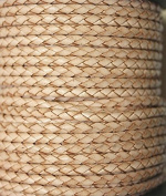 3mm - Round - Bolo (Braided) Leather Laces Available in 1 Yard, 5 Yard, 10 Yards Packing (25 Yards, Natural