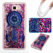 ARSUE Galaxy J5 Prime Case, Galaxy On5 2016 Case with Cool Moving Bling Glitter Sparkle Design Printed Liquid Quicksand Transparent Soft Case for Galaxy J5 Prime, Galaxy On5 2016