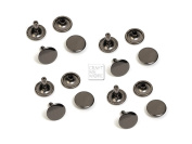 CRAFTMEmore 100 Pack 8MM Double Cap Rivets Round Rivet Fasteners for Leather Craft Decorations VT