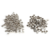 100Pcs Bulk Double Cap Rivets 8x8mm For Leather, DIY Craft, Bag, Shoes Repairs, Pet Collar