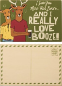 """""""Love You More Than Booze"""" Wood Postcard - Set Of 3"""