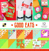 "DCWV Card Stock 30cm X12"" Good Eats Premium Printed Cardstock Stack"