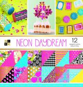 "DCWV Card Stock 30cm X12"" Neon Daydream Premium Printed Cardstock Stack"