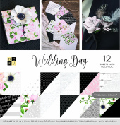 "DCWV Card Stock 30cm X12"" Wedding Day Premium Printed Cardstock Stack"