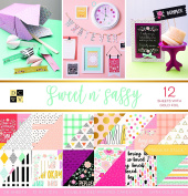 "DCWV Card Stock 30cm X12"" Sweet and Sassy Premium Printed Cardstock Stack"