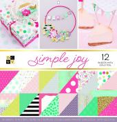 "DCWV Card Stock 30cm X12"" Simple Joy Premium Printed Cardstock Stack"