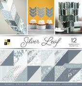 "DCWV Card Stock 30cm X12"" Silver Leaf Premium Printed Cardstock Stack"