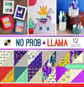 "DCWV Card Stock 30cm X12"" No Prob Llama Premium Printed Cardstock Stack"