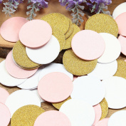Glitter Paper Confetti Circles, Wedding Party Decor and Table Decor,Circles confetti Glitter Paper Confetti, DIY Kits,200pcs,pack of 2,Circles Dots,
