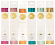 American Crafts - Heidi Swapp - MINC Reactive Foil - Six 16cm x 1.5m Rolls - Hot Pink, Light Pink, Mint, Teal, Orange, Gold