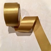 5.1cm Single Face Satin Ribbon Price Per Roll/25 Yards in Old Gold Available in 10 Colours