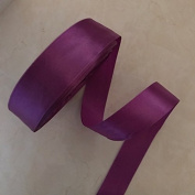 2.5cm Single Face Satin Ribbon Price Per Roll/25 Yards in Purple Available in 14 Colours