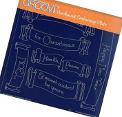 Groovi Parchment Embossing Plate Christmas Banners A5 - Laser Etched Acrylic for Parchment Craft