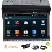 Android 6.0 Capacitive TouchScreen GPS Navigation Radio Electronics Bluetooth Autoradio Double Din 18cm In Dash Video Car PC Auto DVD Player Stereo Head Unit WIFI/1080P + Wireless Rear Camera