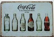 Vintage Style Coca Cola In The Distinctive Bottle Retro METAL Wall Poster Sign Plaque 30x20cm