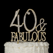 40 & Fabulous Cake Topper for 40th Birthday Party Supplies Decoration