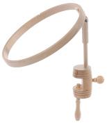 Elbesee Hoop with Table Clamp, Wood, Brown, 20 cm, 8-Inch