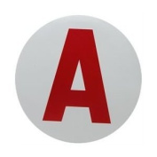 """A"" Young Driver Sticker"