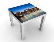 Design Table Brooklyn Bridge In New York 55x55x45cm, Table Colour:Black;Dimensions:55 x 55 x 45cm