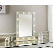 Hollywood White LED Bulb Vanity Make-Up Table Mirror