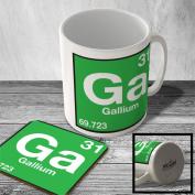 MAC_ELEM_056 (31) Gallium - Ga - Element from Periodic Table - Mug and Coaster set