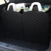 Topfit Front and Rear Trunk Mat and 3rd Row Seat Back Protector Mat For Tesla Model X 6 seat and 7 seat