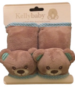 Bear seat belt,infant carseat strap covers for travel and comfort, plus protection from strap burn in carseat and strollers