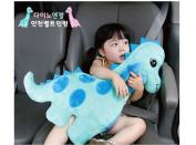 Dino Angel Stuffed Doll Car Safety Belt Shoulder Pad Vehicle Seat Belt Cushion for Kids