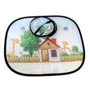 Baby Car Window Shade (2 piece), Bidear Cute Cartoon Design Car Sunshade for Side Window,Auto Accessories UV Rays Protection for Your Kids and Pets in Car (43cm x 36cm ),House