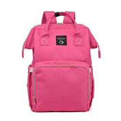 MLF-Baby Nappy Nappy Changing Bag . double shoulder bag multifunction large capacity out of backpack,Pink