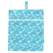 green sprouts by i play. Waterproof Travel Wet Bag, Aqua Floral, One Size