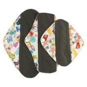 Ecurson Foldable Portable Reusable Bamboo Cloth Washable Menstrual Pad Mama Sanitary Towel Pad